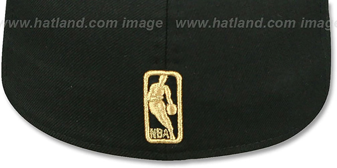 Bulls 'GOLD METAL-BADGE' Black Fitted Hat by New Era