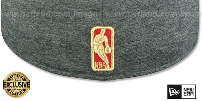 Bulls 'GOLD METAL-BADGE' Shadow Tech-Red Fitted Hat by New Era