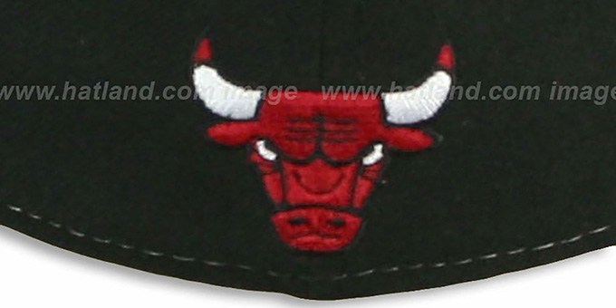 Bulls 'HERO-HCL' Black-Red Fitted Hat by New Era