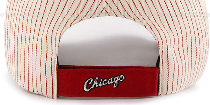 23f1c5a46ce ... Bulls  HOME-RUN PINSTRIPE STRAPBACK  Hat by Twins 47 Brand ...