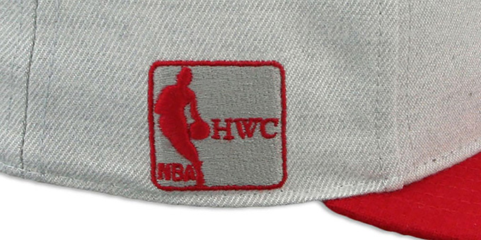Bulls HWC 'SATCHEL SNAPBACK' Grey-Red Adjustable Hat by Twins 47 Brand