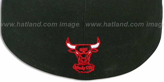 Bulls 'ILLUSION' Black Fitted Hat by New Era