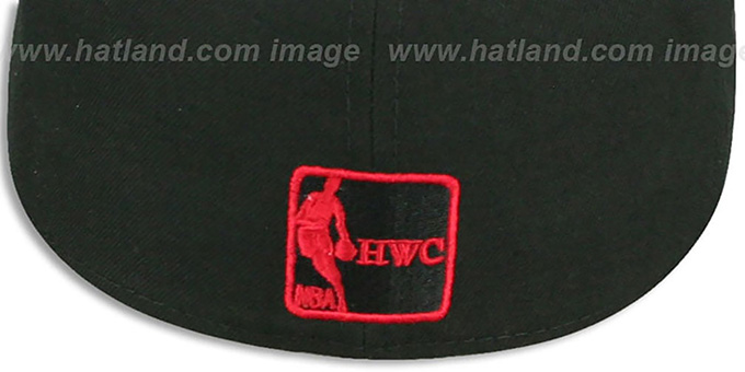 Bulls 'MIGHTY-XL' Black-Red Fitted Hat by New Era