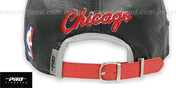 e161a41adf0 ... Bulls  PREMIUM RETRO-ARCH STRAPBACK  Black-Grey Hat by Pro Standard ...