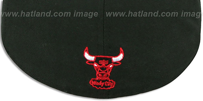 Bulls 'REAL TIGER VIZA-PRINT' Black Fitted Hat by New Era