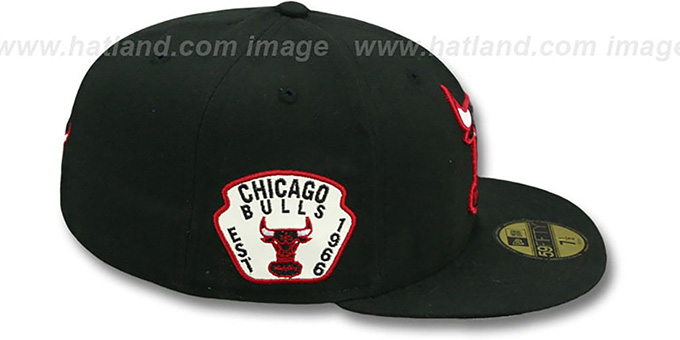 Bulls 'SIDE TEAM-PATCH' Black Fitted Hat by New Era