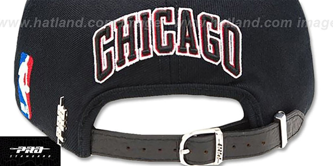 Bulls 'TEAM-BASIC STRAPBACK' Black Hat by Pro Standard