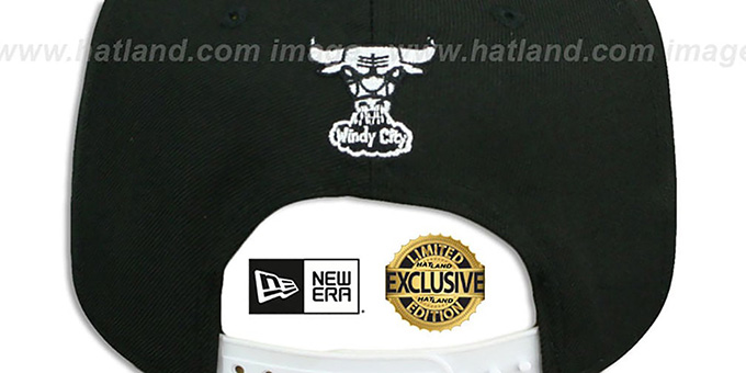 Bulls 'TEAM-BASIC TRACE SNAPBACK' Black-White Hat by New Era