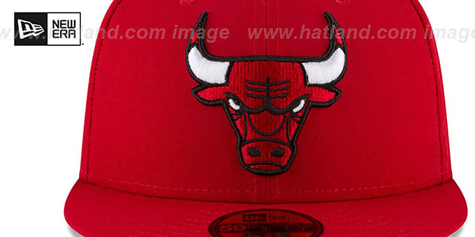 Bulls 'TEAM-SUPERB' Red Fitted Hat by New Era