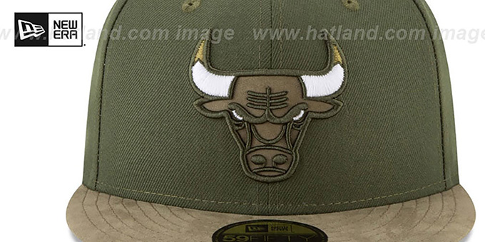 Bulls 'TONAL-CHOICE' Rifle Green Fitted Hat by New Era