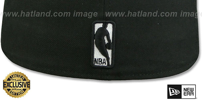Bulls 'WHITE METAL-BADGE' Black Fitted Hat by New Era