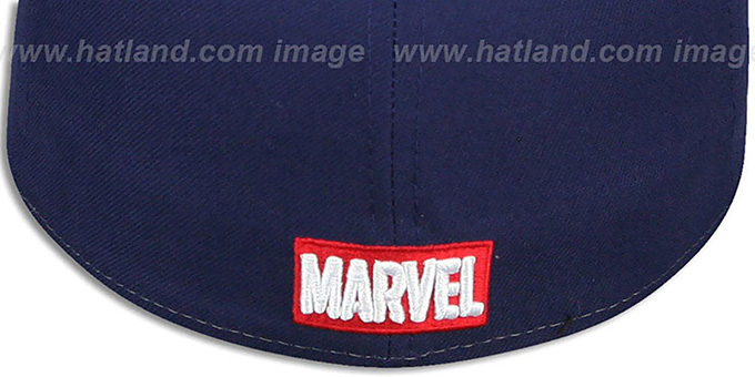 Captain America 'PANEL-POP' Blue-Navy Fitted Hat by New Era