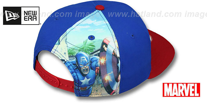 Captain America 'QUARTER-SUB SNAPBACK' Royal-Red Hat by New Era