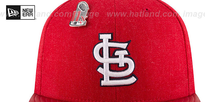 Cardinals 11X 'HEATHER-PIN' Red Fitted Hat by New Era