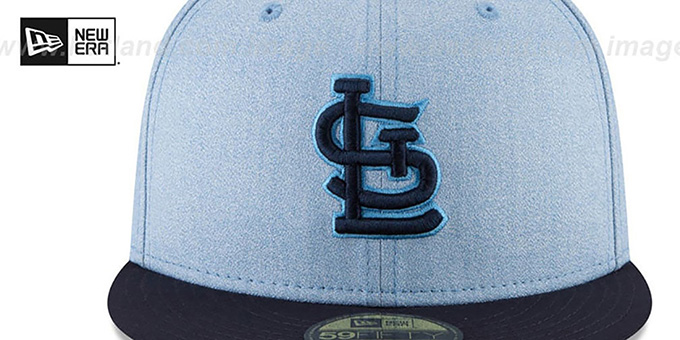 Cardinals '2018 FATHERS DAY' Sky-Navy Fitted Hat by New Era