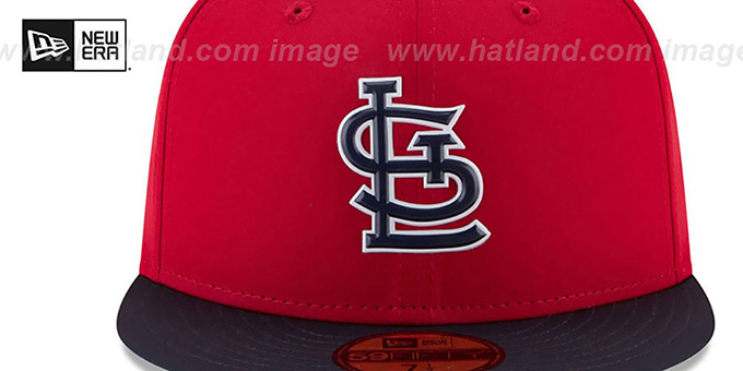 Cardinals '2018 PROLIGHT-BP' Red-Navy Fitted Hat by New Era