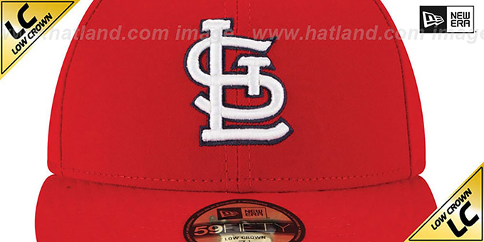 Cardinals 'LOW-CROWN' GAME Fitted Hat by New Era