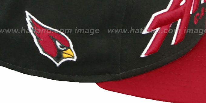 Cardinals 'SNAP-IT-BACK SNAPBACK' Black-Burgundy Hat by New Era