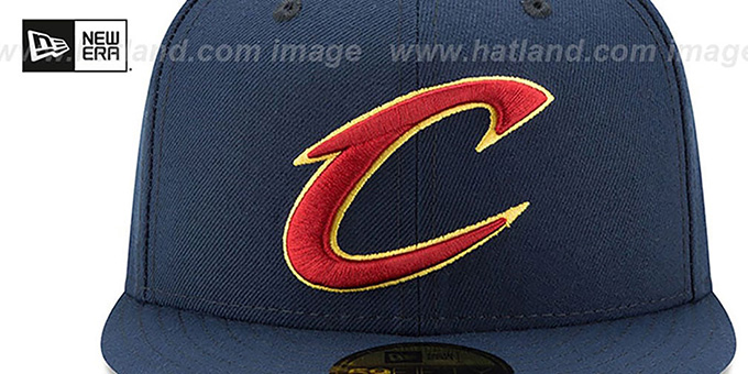 Cavaliers '2017 FINALS' Navy Fitted Hat by New Era