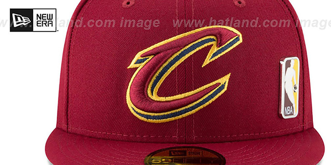 Cavaliers 'FLAWLESS PINNED-UP' Burgundy Fitted Hat by New Era