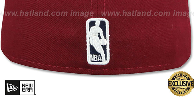 Cavaliers 'LEATHER POP' Burgundy Fitted Hat by New Era