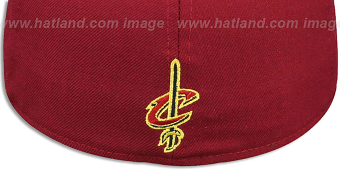 Cavaliers 'LEBRON JAMES 23' Burgundy-Gold Fitted Hat by New Era