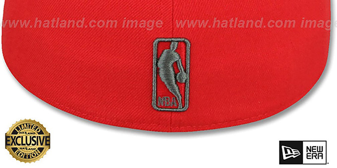 Cavaliers 'NBA TEAM-BASIC' Fire Red-Charcoal Fitted Hat by New Era