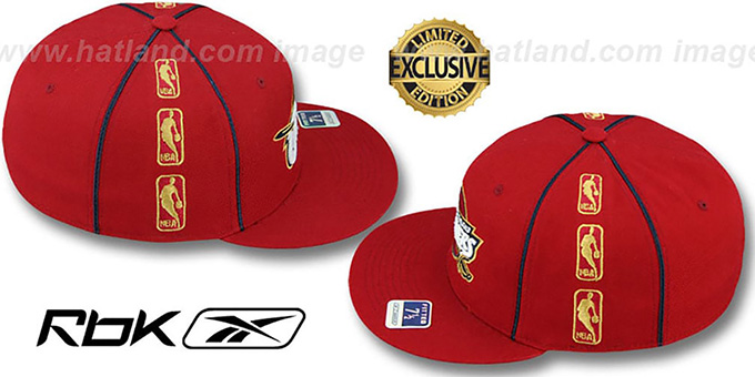 Cavaliers 'NBA-TRIPLESIDE' Burgundy Fitted Hat by Reebok