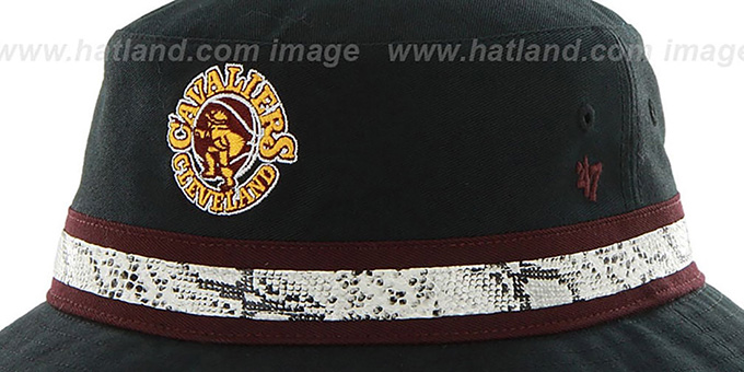 Cavaliers 'SNAKEBAND BUCKET' Black Hat by Twins 47 Brand