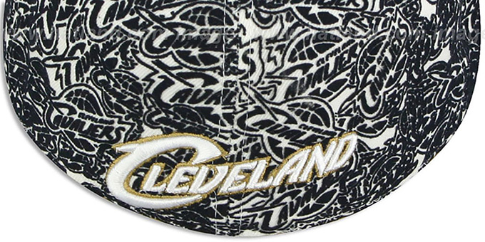 Cavaliers 'TC-FLOCKING' White-Navy Fitted Hat by UNK