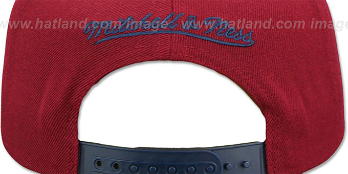 a70d3ff3 ... Cavaliers 'XL RUBBER WELD SNAPBACK' Burgundy-Navy Adjustable Hat by  Mitchell and Ness ...