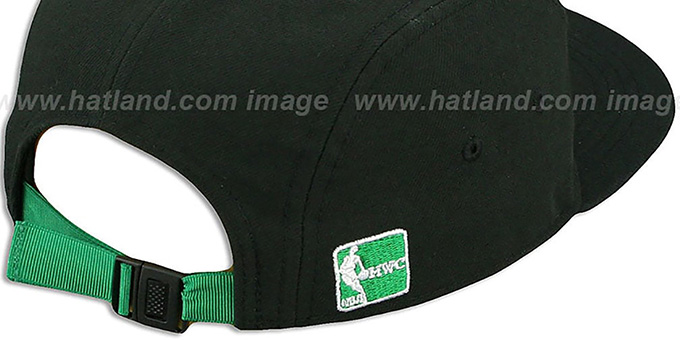 Celtics  'FLAWLESS CAMPER STRAPBACK' Black Hat by New Era