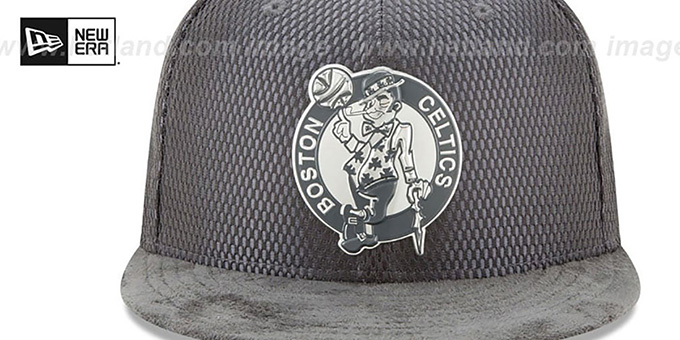 Celtics '2017 ONCOURT' Charcoal Fitted Hat by New Era