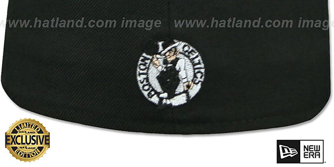 Celtics 'GOTHIC TEAM-BASIC' Black Fitted Hat by New Era