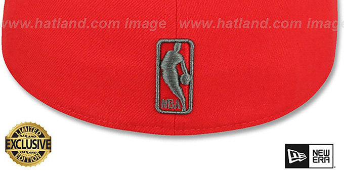 Celtics 'NBA TEAM-BASIC' Fire Red-Charcoal Fitted Hat by New Era