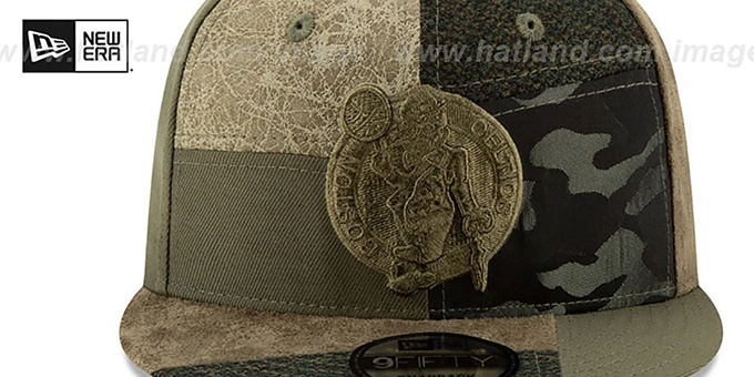 Celtics 'PATCHWORK PREMIUM SNAPBACK' Hat by New Era