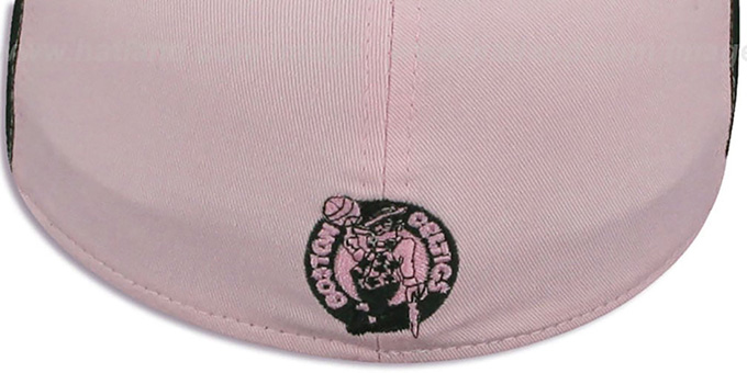 Celtics 'PINWHEEL' Light Pink-Black Fitted Hat by New Era