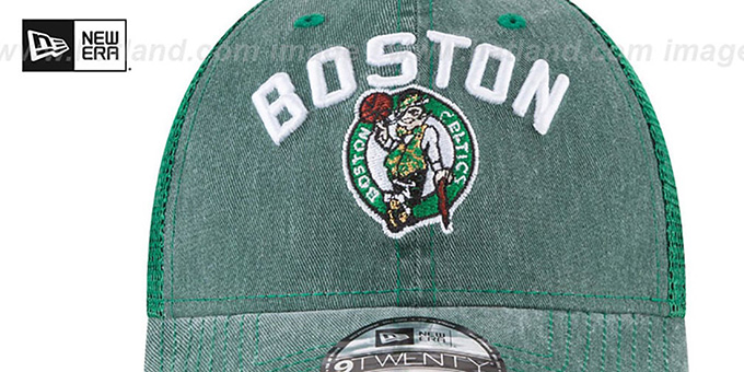 Celtics 'RUGGED-TEAM TRUCKER SNAPBACK' Green Hat by New Era