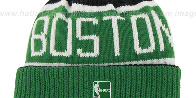 Celtics 'THE-CALGARY' Green-Black Knit Beanie Hat by Twins 47 Brand