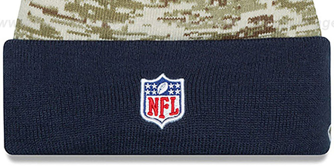 Chargers '2015 SALUTE-TO-SERVICE' Knit Beanie Hat by New Era