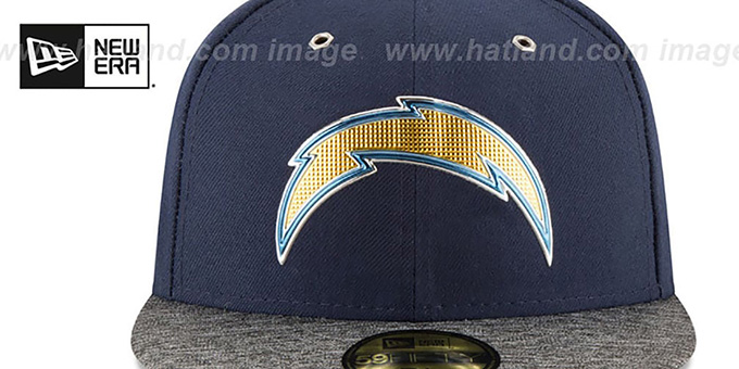 47e8334243c San Diego Chargers 2016 NFL DRAFT Fitted Hat by New Era