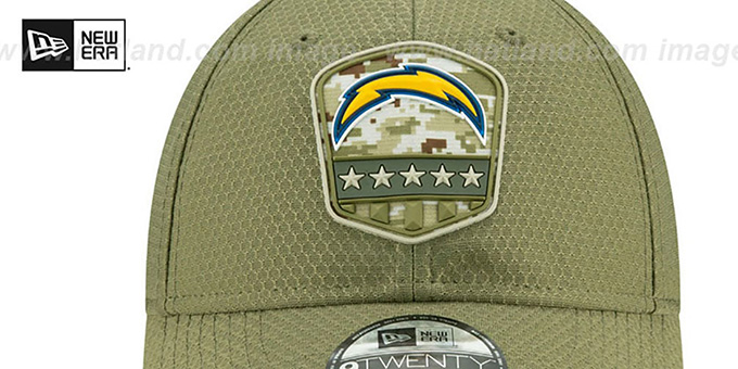 Chargers '2019 SALUTE-TO-SERVICE STRAPBACK' Olive Hat by New Era