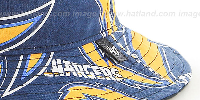 Chargers 'BRAVADO BUCKET' Hat by Twins 47 Brand