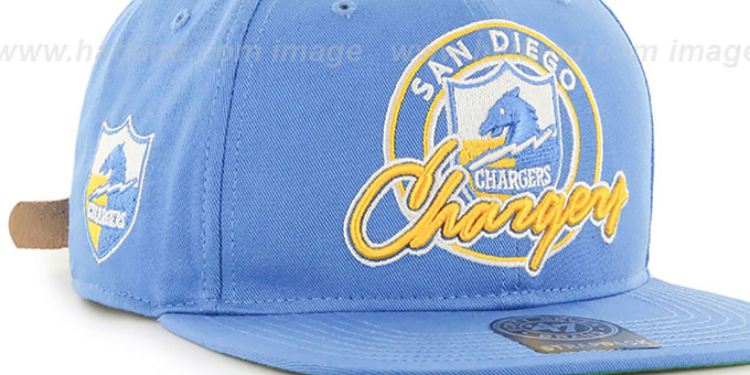 Chargers 'NFL VIRAPIN STRAPBACK' Sky Hat by Twins 47 Brand