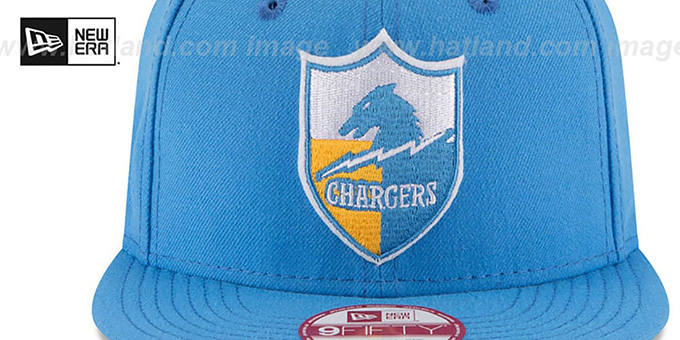 Chargers 'RETRO-BASIC SNAPBACK' Sky Hat by New Era