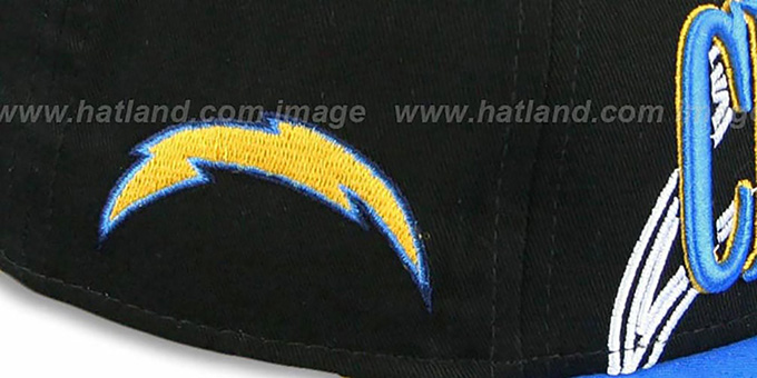Chargers 'THROUGH SNAPBACK' Black-Blue Hat by New Era