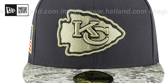 Chiefs '2016 SALUTE-TO-SERVICE' Grey-Desert Fitted Hat by New Era