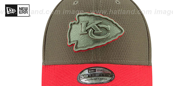 Chiefs '2017 SALUTE-TO-SERVICE FLEX' Green-Red Hat by New Era