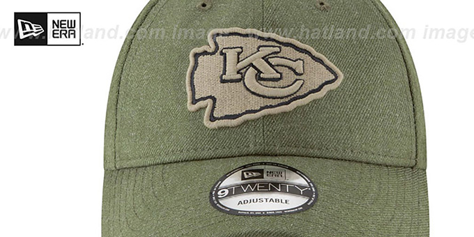 Chiefs '2018 SALUTE-TO-SERVICE STRAPBACK' Olive Hat by New Era