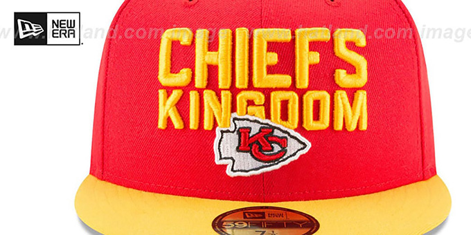 Chiefs '2018 SPOTLIGHT' Red-Gold Fitted Hat by New Era